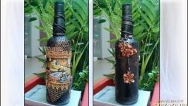 Подарочное оформление бутылки Брутальная нежность, подарок влюбленным