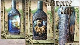 Подарочная бутылка Steampunk - Lady, подарки день рождения