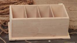 Коробка ручной работы из фанеры на 4 отсека. Коробка под ...