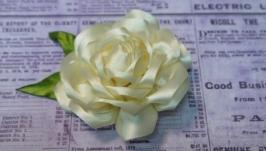 Заколка Бежевая роза