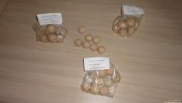 25 мм Бусины деревянные - упаковка 8 шт