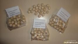 15 мм Бусинки деревянные - упаковка 30 шт