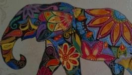 Картина «Радужный слон»