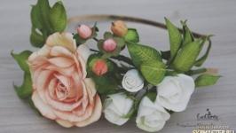 Цветочный ободок из фоамирана