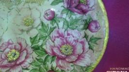 Декоративна тарiлка Пiони