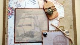 Листівка вітальна чоловіча ′Travel′