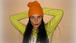 шапка бини ′рыжая осень′