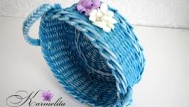 Плетеный кошик