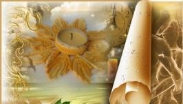 Салфетка-подсвечник ′Золотой листопад′