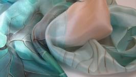 Батик шарф ′Утро ноября′