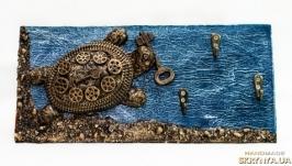 Прикольная черепаха Ключница настенная Подарки ручной работы