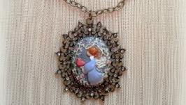 Кулон «Ангел с птичкой»