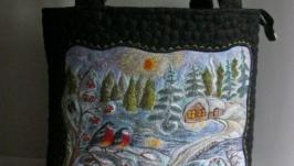 ′Зимовий пейзаж ′ Вишита сумка