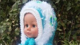 Пальто и шапочка  детское вязанное !