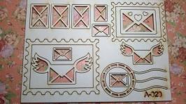 Чипборд ′Почтовый набор′