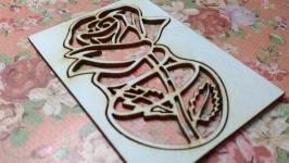 Чипборд ′Ваза с цветами №7′