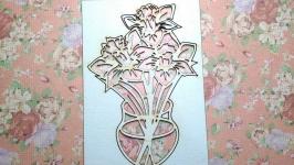 Чипборд ′Ваза с цветами №5′
