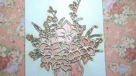 Чипборд ′Ваза с цветами №2′