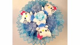 Букет из мягких игрушек Kitty blue ′Мереживний настрій′