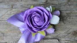 Бутоньерка с розой Прованс