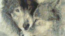 Картина ′Пара волков′