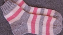 Носки шерстяные ′полоса′