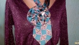 Ожерелье жабо Бирюза