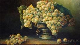 Картина маслом ′Виноград′