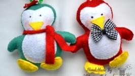 Набор ёлочных игрушек ′Пингвины′