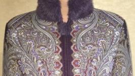 Женская куртка, жакет из Павло-Посадского платка.