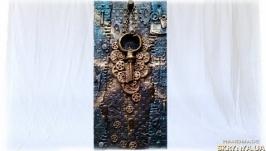 Настенная ключница Предмет декора интерьера прихожей в стиле лофт