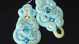 Сережки ручної роботи чарівний сутаж