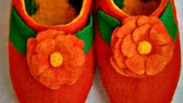Тапочки валяные женские ′Весеннее настроение′
