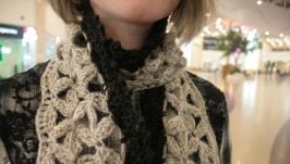 Ажурный шарф из лепестков