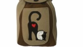 Детский рюкзак с котиком (дитячий рюкзак)