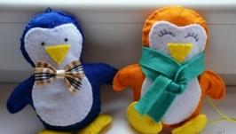 Набор ёлочных игрушек ′Пингвинчики′
