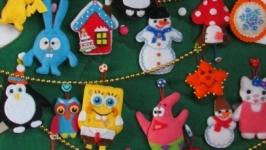 Розвиваюча іграшка - Новорічна ялинка з фетру.