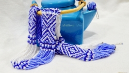 Гердан Волошково-синій орнамент