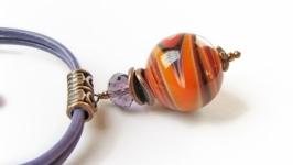 Браслет «Все простое» (№ 53) Оранжевый, фиолетовый