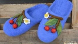 slipper, тапочки женские, валяные из натуральной шерсти, ручная работа