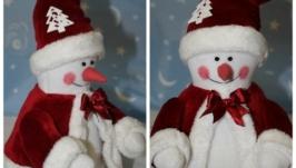 Снеговик текстильная игрушка Тильда