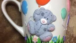 Кружка ′Мишка с шариками′