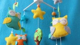 Мобиль на детскую кроватку ′Сладкий сон совят′