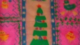 В НАЛИЧИИ! Детский плед валяный Новогодняя Сказка, покрывало валяное