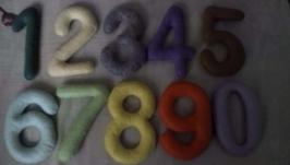 Цифри 0-9 з фетру