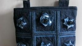 ДЖИНСОВІ ТРОЯНДИ Текстильна сумка