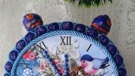 Новогодний подарок - декоративные часы с конфетами