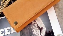 Кожаный кошелек карт холдер
