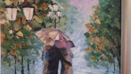 Картина′Под дождем′