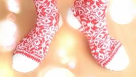 Носочки с жаккардовым узором